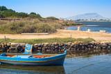 mozia harbor, in the salt marshes of marsala