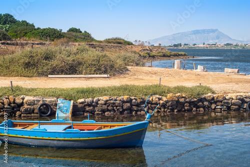 mozia harbor, in the salt marshes of marsala - 82270403