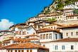 Leinwanddruck Bild - Windows in Berat city