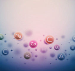 Vitamins Background