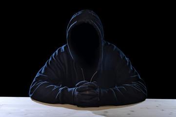 criminal terrorist  hidden identity in activity crime concept