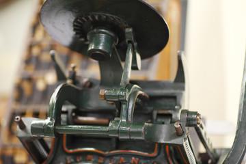 Antique tabletop printing press