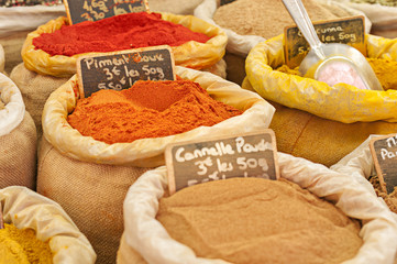 Spices at Market in France