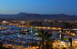 canvas print picture - Los Cabos, Mexico night view from above