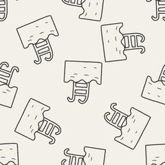 swim pool doodle seamless pattern background
