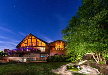 House under night sky