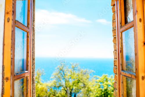 Fototapeta Window with sea view