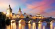 Leinwandbild Motiv Prague - Charles bridge, Czech Republic