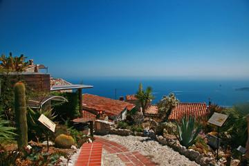 Exotic Garden of Eze Village, Cote d'Azur, France