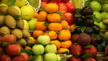 a lot of different fruits on the market