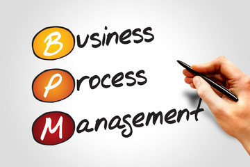 Business process management ( BPM ) acronym business concept
