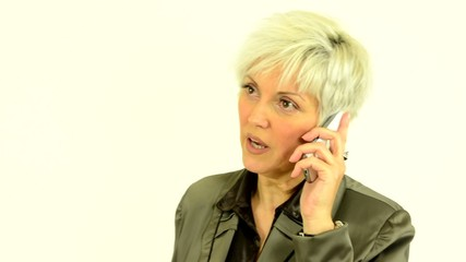 business middle aged woman phone