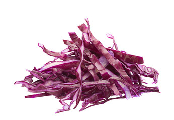 Red cabbage slice heap