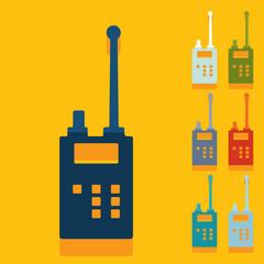Flat design: police radio
