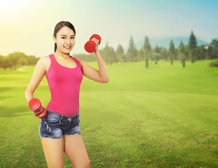 Woman Exercise Outdoor