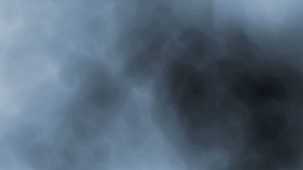 digital seamless loop of smoke slowly floating on black