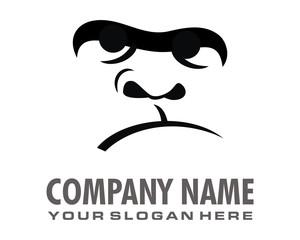 monkey gorilla ape logo image vector