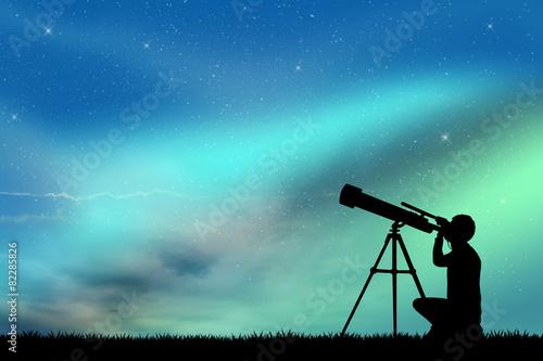 Fototapeta look in the telescope