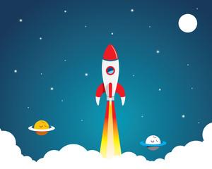 background rocket space