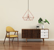 Scandinavian design interior with himmeli diamond lamp - 82289202