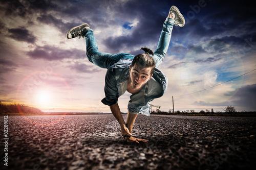 Fotobehang Dans Danseur breakdance