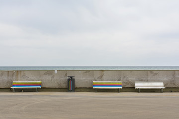 Colored bench