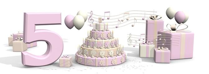Muziek cadeaus - feestje voor meisje van vijf