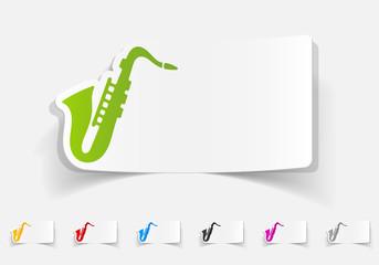 realistic design element. saxophone