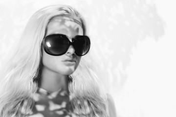 beautiful woman in sunglasses.beauty blond girl