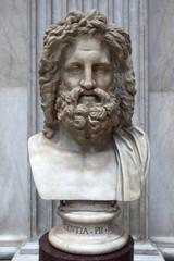 Roman marble bust of Zeus