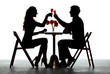 Couple Having Dinner With Wine Glass On Table - 82297485