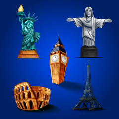 icons travel world