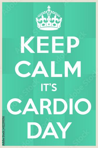 Cardio day Plakát