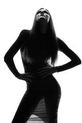 High fashion look. Portrait of beautiful sexy stylish model