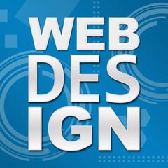 Web Design Blue Technical Background