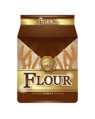 Illustration of flour package.