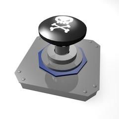 ドクロのボタン