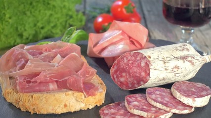 Italian Cured Meat Platter Rotating
