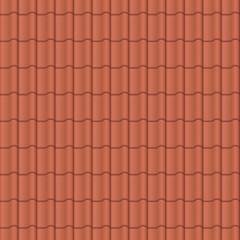Roof tile, red - seamless tileable