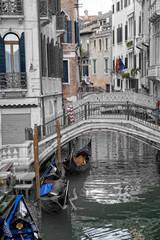 Venezia - Gondola on canal in Venice