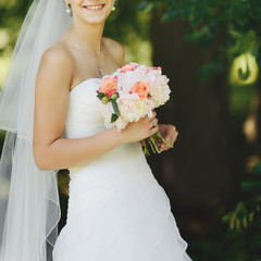 Portrait of beautiful bride.