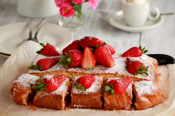 strawberries cake - fruits cake