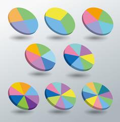 円グラフ・インフォグラフィックス