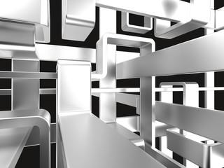 Metall-Labyrinth