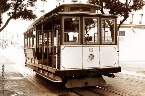 Fotobehang San Francisco Old tram