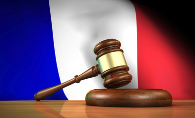 French Law And Justice Concept