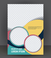 Magazine, flyer, brochure, cover layout design print template