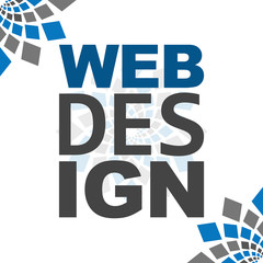 Web Design Blue Grey Square Elements