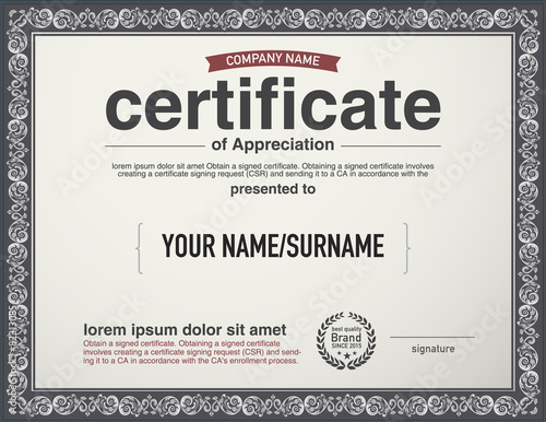 Modern Layout Vector Certificate Template Buy Photos Ap Images