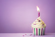 Purple birthday cupcake - 82313817